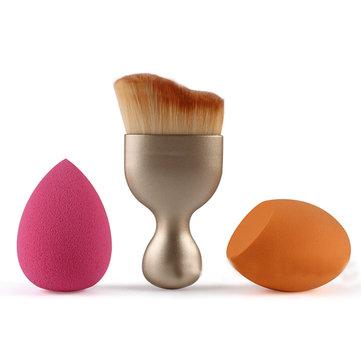 MAANGE 3pcs Maquiagem Squishy Escovas Set Cosmetic Foundation Puff Cream Powder Escova