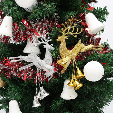 Christmas Tree Reindeer Elk Deer Bell Ornament Pendant Xmas Party Hanging Decor
