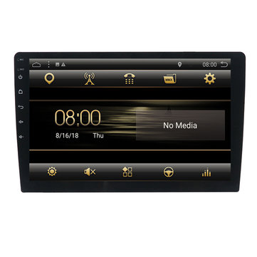 T3 9 Inch 1 Din Car Stereo Radio Android 8.1 Quad-core MP5 Player GPS bluetooth DAB+ Wifi 4G