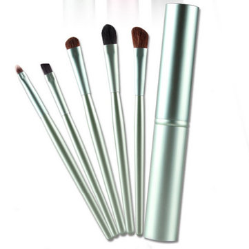 5PCS Eyeshadow Makeup Brushes Set Kit Cosmetic Brush Pen Round Tube Women