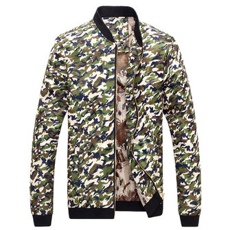 Mens Spring Camo Thin Coat Camouflage Casual Jacket