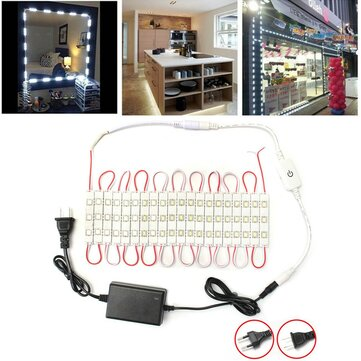 Dimmable Waterproof 12W SMD5630 60 LED Module Strip Under Cabinet Mirror Light Kit AC110-240V