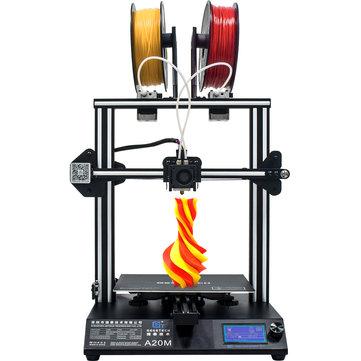 Geeetech® A20M Gemengde kleuren 3D-printer 255x255x255mm Afdrukgrootte met gloeidraaddetector / Power Resume / Superplate broeinest / modulair ontwerp / 360 ° ventilatie / open source besturingskaart / ondersteuning WIFI-verbinding