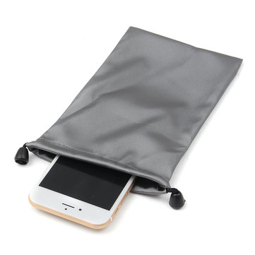 Universal Waterproof Drawstring Mobile Phone Bag Portable Pouch Power Bank Cable Storage Bag