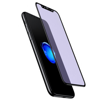 Baseus 0.23mm Frosted Anti-blue Light 3D Curved Soft Edge PET Tempered Glass Screen Protector for iPhone XS/X