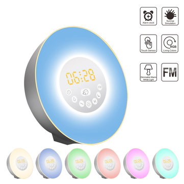 Sunrise Alarm Clock Digital Wake Up Light with Sunrise Sunset Simulation Sleep