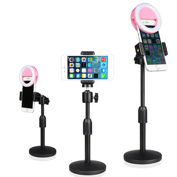Universal Live Stream 360 Degree Rotation Extendable Arm Desktop Phone Holder Stand for Xiaomi