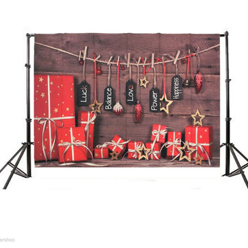 7x5ft Vinyl Christmas Wood Gift Photography Background Photo studio Backdrop