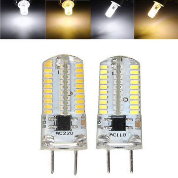 G8 Dimmable LED Bulb 3W SMD 3014 80 Pure White/Warm White Silicone Light Lamp AC 110V/220V
