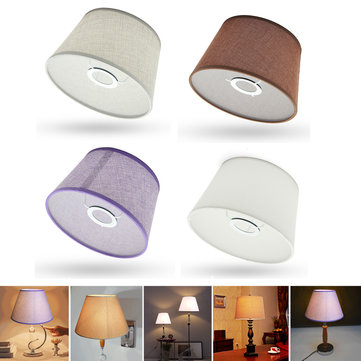 Cotton Textured Fabric Empire Drum Shade Table Ceiling Lampshade