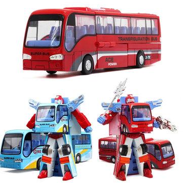 Blue/Red Robot Bus Transformer Toy For Children