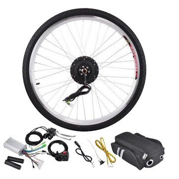 Bikight 36V 250W 26Inch Electric Bicycle Modification Kits Motor Front Wheel Controller Electric Bike Kits