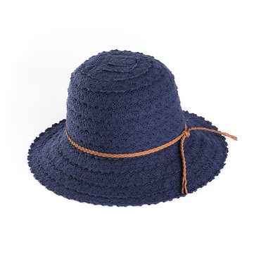 Women Outdoor Adjustable Sunscreen Woven Straw Hat