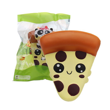 SquishyFun Cute Squishy Pizza Kawaii Soft Slow Rising Toy With Packing Bag