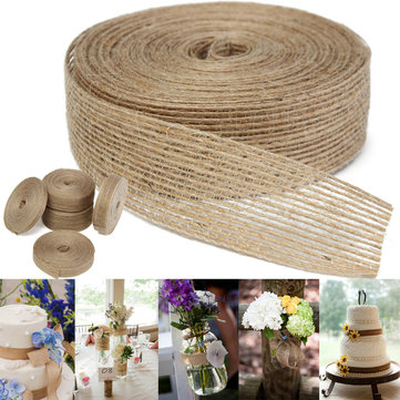 10M Vintage Jute Hessian Burlap Ribbon Wedding Party Wrapping Deocration