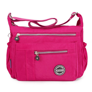 Women Nylon Waterproof Large Capacity Leisure Crossbody Bag