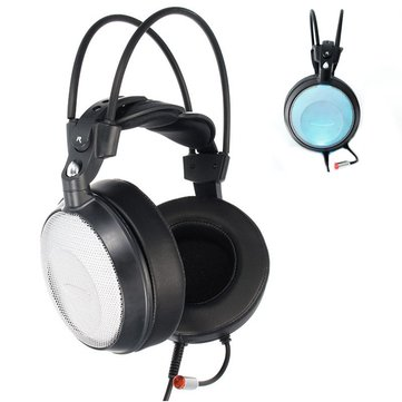 City Music i6 LED 50mm Drive Unit Noise Canceling Bass Over Ear Gaming Headphone Headset with Mic