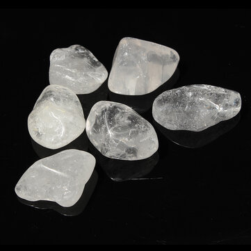 6pcs Transparent Clear Crystal Quartz Healing Stone Decoration DIY