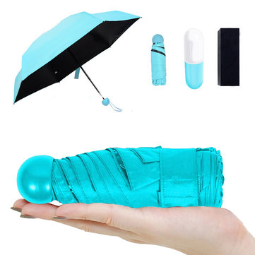 IPRee™ Outdoor Pocket Umbrella 5 Folding Rainproof Anti-UV Ultralight Compact With Capsule Case