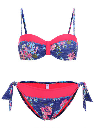 Low Rise Printed Adjusted Straps Lady Beachwear