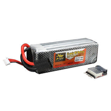 ZOP Power 11.1V 8000mAh 3S 40C Lipo Battery TRX Plug With Battery Alarm For Traxxas