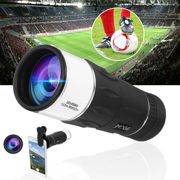 35x40 HD Optical Lens Monocular Concert Telescope + Clip For Mobile Phone Camping Hiking
