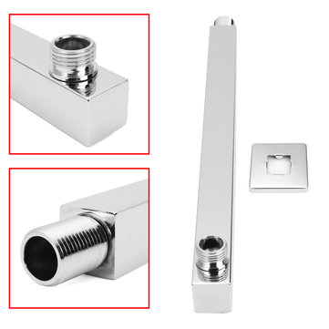 Stainless Steel Shower Arm Extension Rod Adjustable Extension Arm for Shower Head