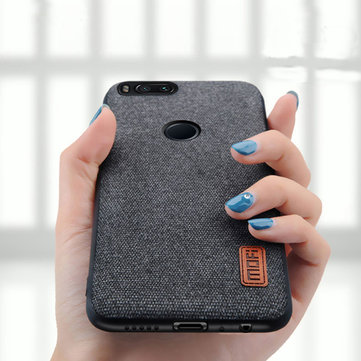 Luxury Fabric Splice Soft Silicone Edge Shockproof Protective Case For Xiaomi Mi 5X / Xiaomi Mi A1