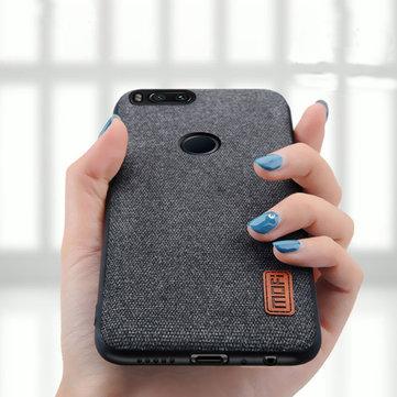 Luxury Fabric Splice Soft Silicone Edge Shockproof Protective Case For Xiaomi Mi 5X / Xiaomi Mi A1