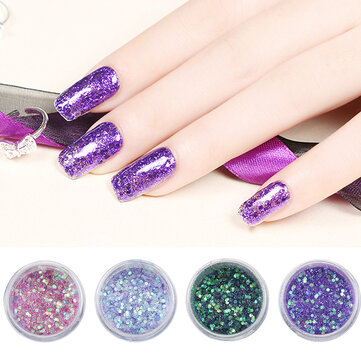 Glitter Nail Decoration Powder Manicure Salon Shinning Tips UV Gel DIY Design
