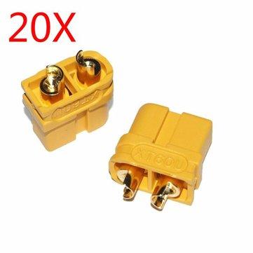 20倍アップグレードAmass XT60U男性女性の弾丸コネクタLipoバッテリー用のプラグ1ペア