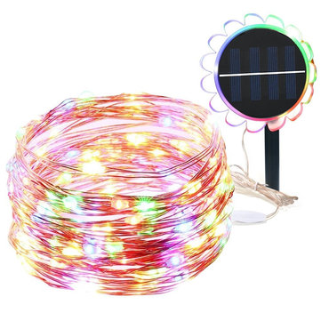 ARILUX® 10M Sunflower Solar Powered 8 Modes Waterproof LED Copper Wire String Holiday Light