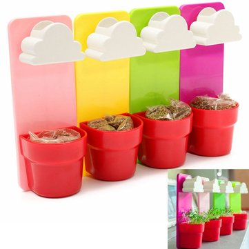 Creative Rainy Cloud Hanging Plant Flower Pot Planter Home Garden Balcony Decor