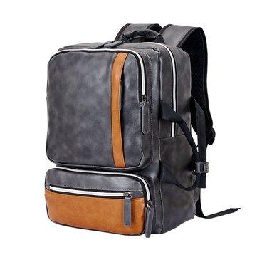 Men Microfiber School Bag Large Capacity Computer Backpack