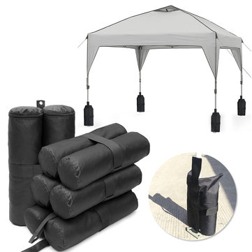 4Pcs Sandbags Sand Zipper Gazebo Leg Weight Pouch For Camping Tent Canopy Base