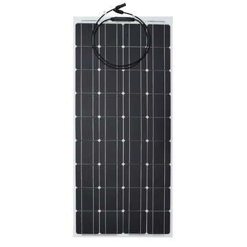 18V 100W Flexible Solar Panel Mono Silicone Module for Boat Roof RV Car Battery Power Charger