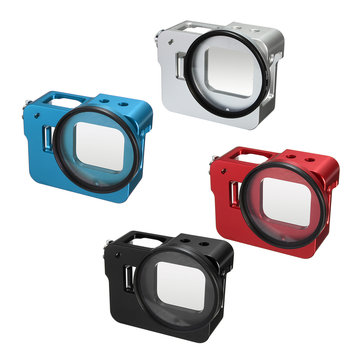 Aluminum Alloy Protective Housing Case Frame with UV Filter Lens for Gopro Hero 5