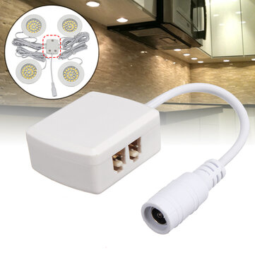 Block Terminal for LED Cabinet Light Lamp Connection Branch 4-hole Box