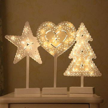 Battery powered star christmas tree heart led night light table lamp battery powered star christmas tree heart led night light table lamp home decoration aloadofball