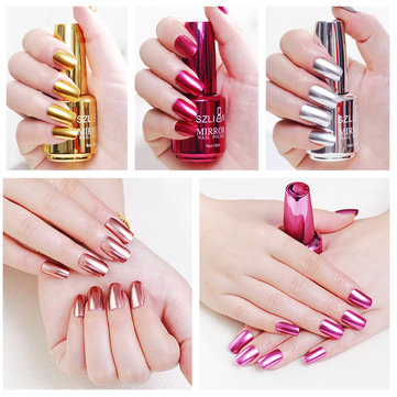 12 Colors Mirror Metal Nail Gel Polish Nail Gel Soak-off UV Gel DIY Nail Art Long-Lasting