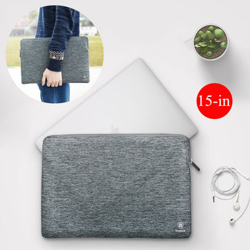 Baseus Slim Waterproof Soft heightened Fluff Lining Zipper Laptop Bag For MacBook Pro 15-inch Lenovo