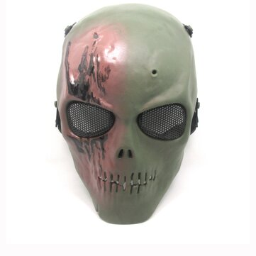 KALOAD M01 High-strength Engineering TPR Skull Skeleton Full Face Mask With Foam Strap Adjustable For Hallo