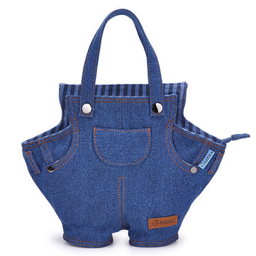 Denim Fabric Fashion Bag Tote Women's Jeans Handbag for Ladies