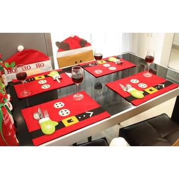 Christmas Glove Dining Table Mat Holiday Venue Kitchen Banquet Christmas Table Pads