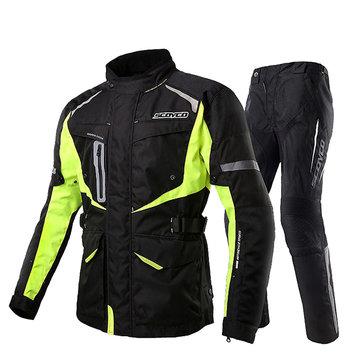 CE Protective Gear Men Jacket Waterproof Uniform Winter Warm Suits For Riding Outdoor Climbing