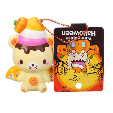 Yummiibear Halloween 9cm Cute Squishy Slow Rising Toy With Pendant