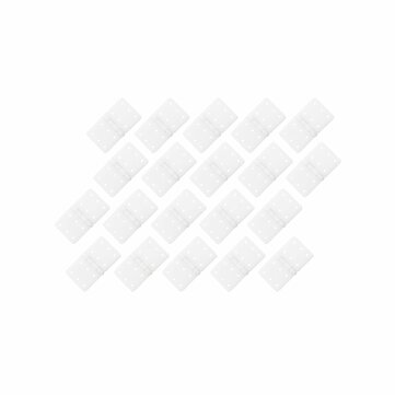 20PCS RJXHOBBY 16x28mm Small Pinned Nylon Hinge Replacement Parts For RC Airplane