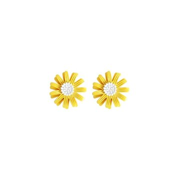 Cute Earring Sweet Daisy Flower Stud Earrings Fashion Yellow White Earrings for Women