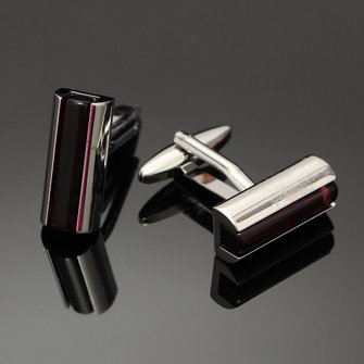 Men Women Purple Bar Crystal Silver Rectangle Cuff Links Wedding Party Gift Shirt Accessories