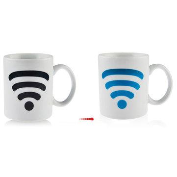 세라믹 와이파이 신호 찻잔 색상 변경 컵 온도 제어 세라믹 컵